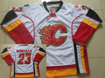 Calgary Flames #23 Sean Monahan White Jersey