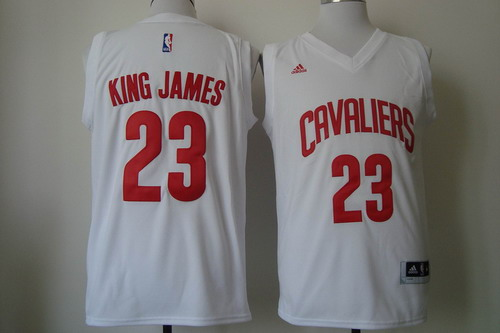 Cleveland Cavaliers #23 King James 2015 White Fashion Jersey