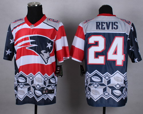 Nike New England Patriots #24 Darrelle Revis 2015 Noble Fashion Elite Jersey