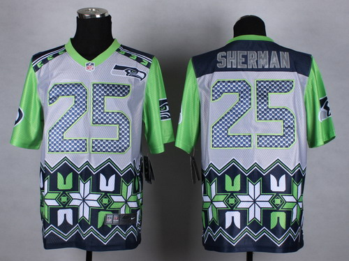 Nike Seattle Seahawks #25 Richard Sherman 2015 Noble Fashion Elite Jersey
