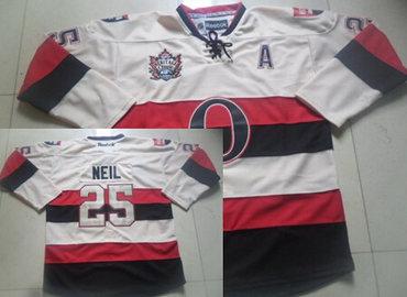 Ottawa Senators #25 Chris Neil 2014 Heritage Classic Cream Jersey