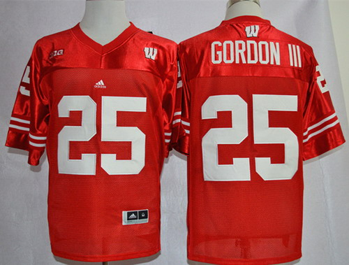 Wisconsin Badgers #25 Melvin Gordon III Red Jersey