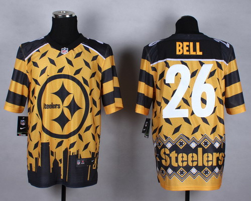 Nike Pittsburgh Steelers #26 LeVeon Bell 2015 Noble Fashion Elite Jersey