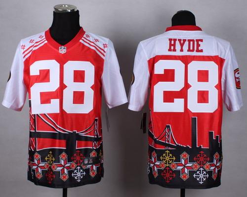 Nike San Francisco 49ers #28 Carlos Hyde 2015 Noble Fashion Elite Jersey
