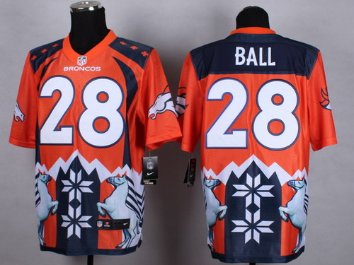 Nike Denver Broncos #28 Montee Ball 2015 Noble Fashion Elite Jersey