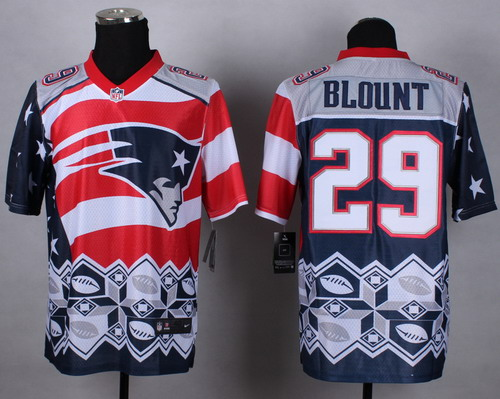 Nike New England Patriots #29 LeGarrette Blount 2015 Noble Fashion Elite Jersey