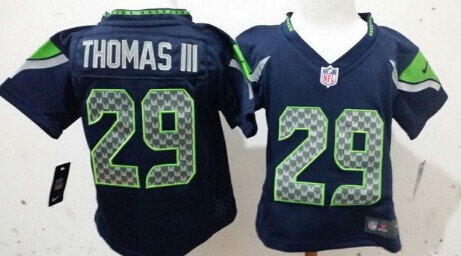 Nike Seattle Seahawks #29 Earl Thomas III Navy Blue Toddlers Jersey
