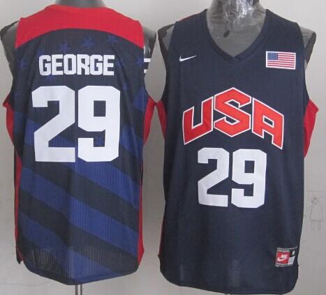 2012 Olympics Team USA #29 Paul George Revolution 30 Swingman Blue Jersey