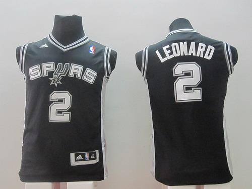 San Antonio Spurs #2 Kawhi Leonard Black Kids Jersey