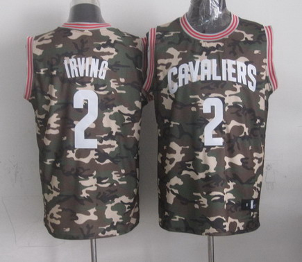 Cleveland Cavaliers #2 Kyrie Irving Camo Fashion Jersey