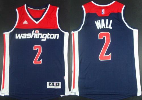 Washington Wizards #2 John Wall Revolution 30 Swingman 2014 New Navy Blue Jersey