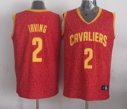 Cleveland Cavaliers #2 Kyrie Irving Red Leopard Print Fashion Jersey