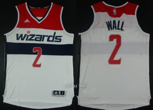 Washington Wizards #2 John Wall Revolution 30 Swingman 2014 New White Jersey