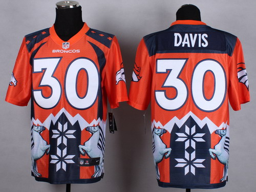 Nike Denver Broncos #30 Terrell Davis 2015 Noble Fashion Elite Jersey