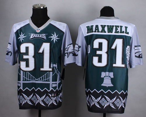 Nike Philadelphia Eagles #31 Byron Maxwell 2015 Noble Fashion Elite Jersey