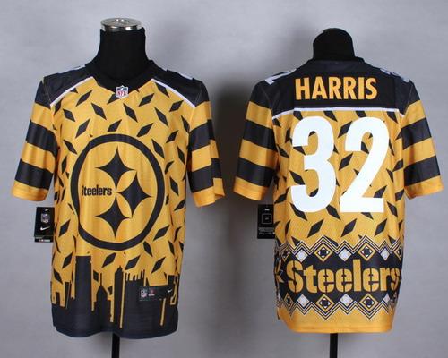 Nike Pittsburgh Steelers #32 Franco Harris 2015 Noble Fashion Elite Jersey