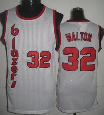 Portland Trail Blazers #32 Bill Walton White Swingman Throwback Jersey