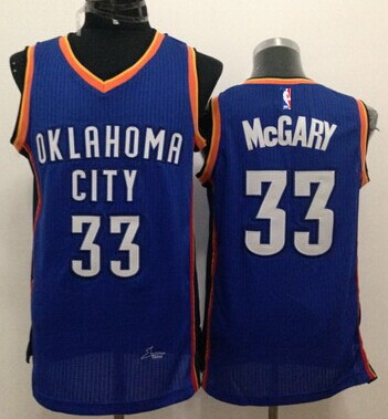 Oklahoma City Thunder #33 Mitch McGary Blue Swingman Jersey