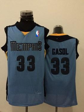 Memphis Grizzlies #33 Marc Gasol Light Blue Swingman Jersey