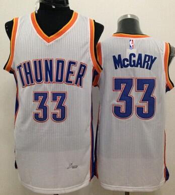 Oklahoma City Thunder #33 Mitch McGary White Swingman Jersey