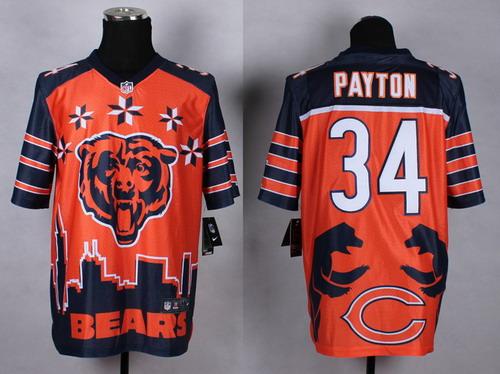 Nike Chicago Bears #34 Walter Payton 2015 Noble Fashion Elite Jersey