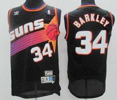 Phoenix Suns #34 Charles Barkley Black Swingman Throwback Jersey