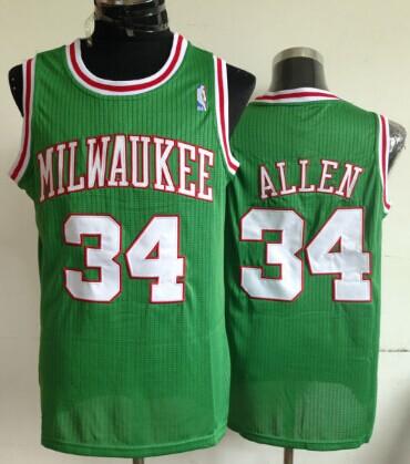 Milwaukee Bucks #34 Ray Allen Green Swingman Throwback Jersey