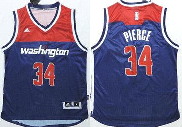 Washington Wizards #34 Paul Pierce Revolution 30 Swingman 2014 New Navy Blue Jersey