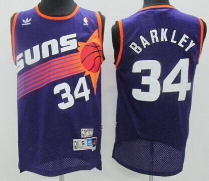 Phoenix Suns #34 Charles Barkley Purple Swingman Throwback Jersey