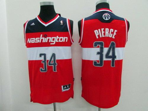 Washington Wizards #34 Paul Pierce Revolution 30 Swingman 2014 Red Jersey