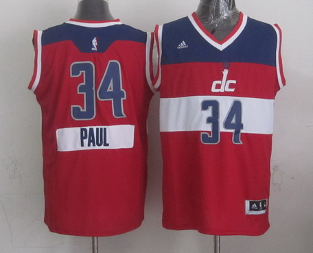 Washington Wizards #34 Paul Pierce Revolution 30 Swingman 2014 Christmas Day Red Jersey