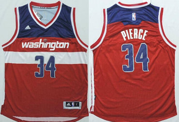 Washington Wizards #34 Paul Pierce Revolution 30 Swingman 2014 New Red Jersey