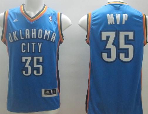 Oklahoma City Thunder #35 MVP Blue Swingman Jersey