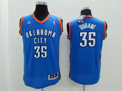 Oklahoma City Thunder #35 Kevin Durant Blue Kids Jersey