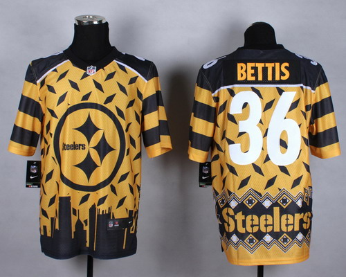 Nike Pittsburgh Steelers #36 Jerome Bettis 2015 Noble Fashion Elite Jersey