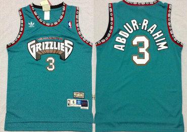 Memphis Grizzlies #3 Shareef Abdur-Rahim ABA Hardwood Classics Green Throwback Swingman Jersey