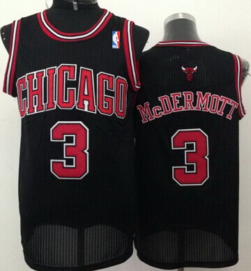 Chicago Bulls #3 Doug McDermott Black Swingman Jersey