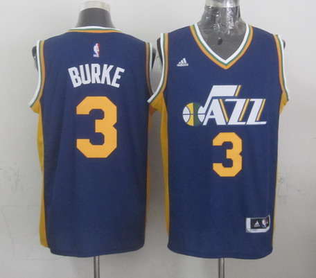 Utah Jazz #3 Trey Burke Revolution 30 Swingman 2014 New Navy Blue Swingman Jersey