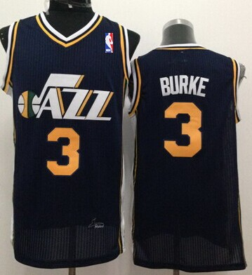 Utah Jazz #3 Trey Burke Navy Blue Swingman Jersey