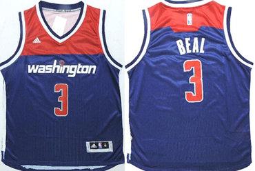 Washington Wizards #3 Bradley Beal Revolution 30 Swingman 2014 New Navy Blue Jersey