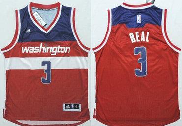 Washington Wizards #3 Bradley Beal Revolution 30 Swingman 2014 New Red Jersey