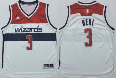 Washington Wizards #3 Bradley Beal Revolution 30 Swingman 2014 New White Jersey