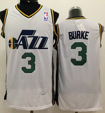 Utah Jazz #3 Trey Burke White Swingman Jersey