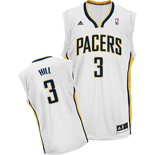 Indiana Pacers #3 George Hill White Swingman Jersey