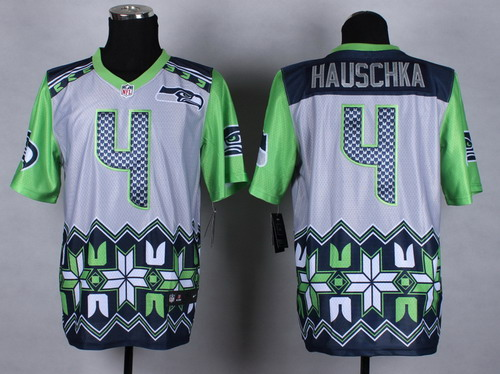 Nike Seattle Seahawks #4 Steven Hauschka 2015 Noble Fashion Elite Jersey