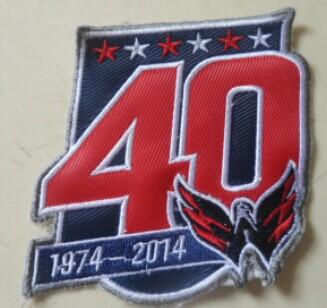Washington Capitals 40th Anniversary Patch