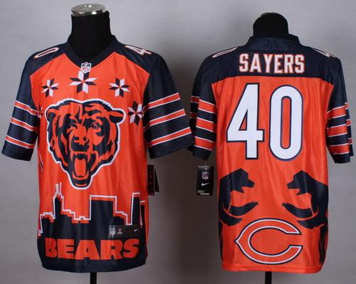 Nike Chicago Bears #40 Gale Sayers 2015 Noble Fashion Elite Jersey
