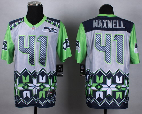 Nike Seattle Seahawks #41 Byron Maxwell 2015 Noble Fashion Elite Jersey