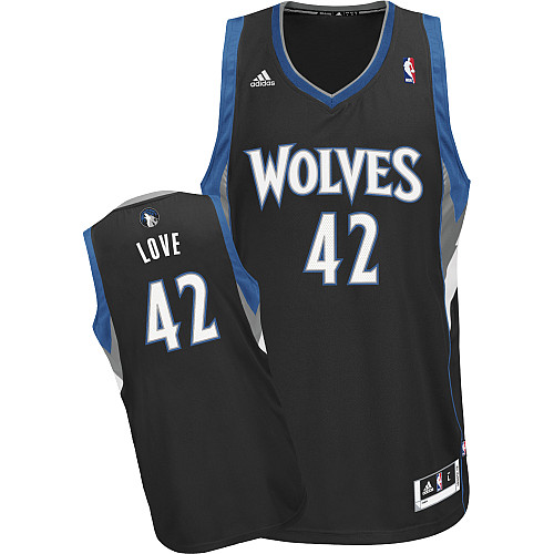 Minnesota Timberwolves #42 Kevin Love Black Swingman Jersey