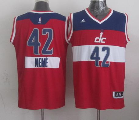 Washington Wizards #42 Nene Hilario Revolution 30 Swingman 2014 Christmas Day Red Jersey